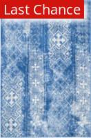 Rugstudio Sample Sale 126616R Silver - Blue Area Rug