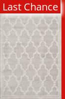 Rugstudio Sample Sale 107858R Light Grey / Ivory Area Rug