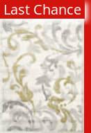 Rugstudio Sample Sale 126645R Ivory - Light Grey Area Rug