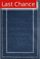 Rugstudio Sample Sale 192585R Navy Blue - Ivory Area Rug
