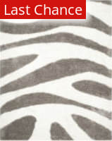 Rugstudio Sample Sale 111928R White / Silver Area Rug
