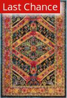 Rugstudio Sample Sale 192789R Turquoise - Light Orange Area Rug