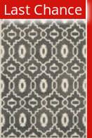 Rugstudio Sample Sale 107928R Dark Grey / Ivory Area Rug