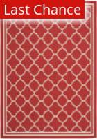 Rugstudio Sample Sale 99062R Red / Bone Area Rug