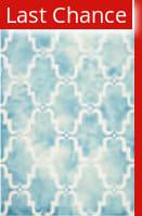 Rugstudio Sample Sale 143288R Turquoise - Ivory Area Rug