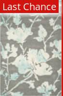 Rugstudio Sample Sale 126765R Grey - Turquoise Area Rug