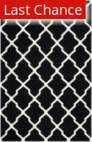 Rugstudio Sample Sale 100554R Black / Ivory Area Rug