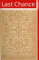 Rugstudio Sample Sale 49888R Ivory / Gold Area Rug