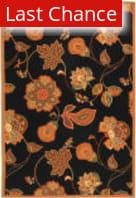 Rugstudio Sample Sale 49908R Black / Orange Area Rug