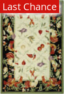 Rugstudio Sample Sale 50004R Ivory / Black Area Rug