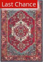 Rugstudio Sample Sale 126895R Red - Turquoise Area Rug