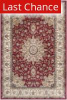 Rugstudio Sample Sale 126952R Red - Ivory Area Rug