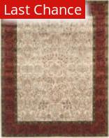 Rugstudio Sample Sale 80744R Ivory / Rust Area Rug