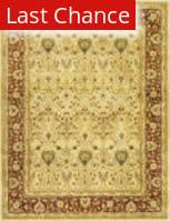 Rugstudio Sample Sale 50187R Ivory / Rust Area Rug