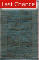 Rugstudio Sample Sale 155723R Turquoise - Gold Area Rug
