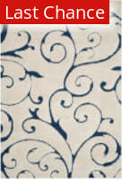 Rugstudio Sample Sale 182555R Cream - Blue Area Rug