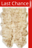 Rugstudio Sample Sale 166673R Off White - Coco Brown Area Rug
