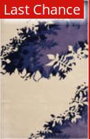 Rugstudio Sample Sale 66395R Beige / Purple Area Rug