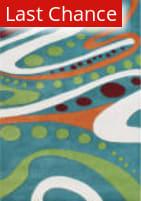 Rugstudio Sample Sale 47315R Teal / Multi Area Rug