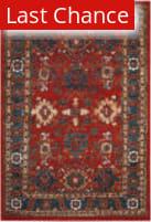 Rugstudio Sample Sale 166791R Orange - Blue Area Rug