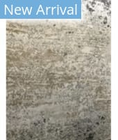 Azad 100 Knot Bamboo Silk RS-5 Ivory - Gray Area Rug