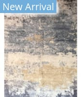 Azad 100 Knot Bamboo Silk RS-4 Ivory - Blue Area Rug