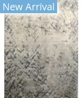 Azad 100 Knot Bamboo Silk J-081 Ivory - Blue Area Rug