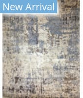 Azad 100 Knot Bamboo Silk RS-6 Beige - Blue Area Rug