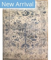 Azad Erased  Blue Area Rug
