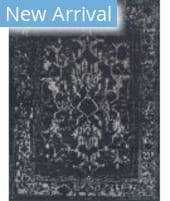 Exquisite Rugs Mentas Hand Knotted 3131 Dark Blue - Silver Area Rug