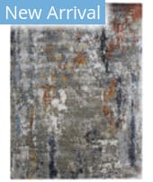 Exquisite Rugs Laurena Hand Knotted 4023 Navy - Silver - Multi Area Rug