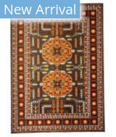 Feizy Foster 3754F Orange - Gray Area Rug