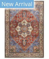 Feizy Percy 39AHF Blue - Rust Area Rug
