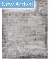 HRI Sunbrella 1000 S10-16D White - Charcoal Area Rug