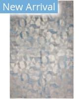 HRI Sunbrella 600 S6-01 Grey - Light Blue Area Rug