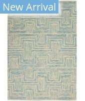 Nourison Interlock ITL06 Ivory - Turquoise Area Rug