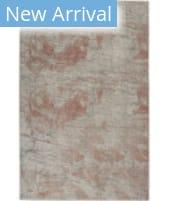Nourison Rustic Textures RUS15 Light Grey - Rust Area Rug
