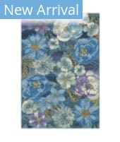 Trans-Ocean Marina Flower Field 8066/03 Cool Area Rug