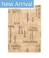 Trans-Ocean Portofino Sentiments 7076/12 Neutral Area Rug