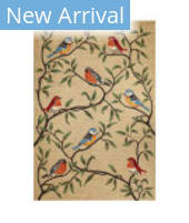Trans-Ocean Ravella Birds On Branches 2270/12 Natural Area Rug