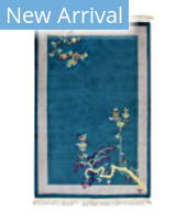 Tufenkian Knotted Chinese Antique Repro Spruce Blue Area Rug