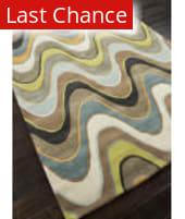Rugstudio Sample Sale 82196R Sea Blue/Beige Area Rug