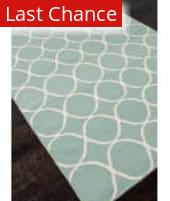 Rugstudio Sample Sale 81838R Light Turquoise / White Area Rug