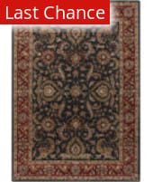 Rugstudio Sample Sale 125914R Charcoal - Red Area Rug