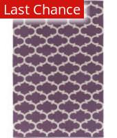 Rugstudio Sample Sale 125958R Light Purple - Ivory Area Rug