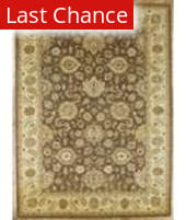 Rugstudio Famous Maker 39373 Brown-Beige Area Rug