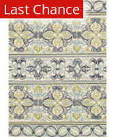 Rugstudio Sample Sale 172698R Ivory - Navy - Lime Area Rug