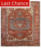 Rugstudio Sample Sale 191064R Red - Rust Area Rug