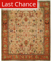 Rugstudio Sample Sale 125971R Ivory - Rust Area Rug
