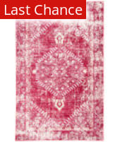 Rugstudio Sample Sale 158222R Persian Red and Cashmere Rose Area Rug